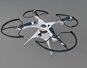 Generic drone quadcopter with camera 3D model