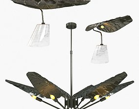 3D model Brabbu Calla chandelier and table lamp