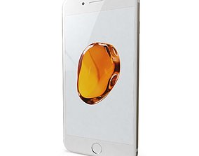 3D model low-poly Apple iPhone 7 Plus Gold