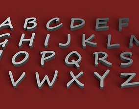 SEGOE SCRIPT font uppercase and lowercase 3D Letters STL