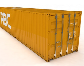Container 40ft Rigged and Animated cargo 3D