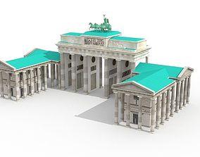 3D model Brandenburg Gate