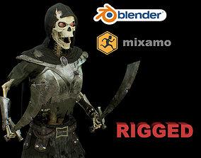 3D model rigged skelet 2