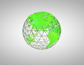 3D model Green World with Holes