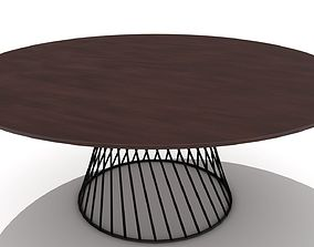 Wire Cone Base Dining Table 3D model