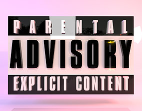 3D asset Parental Advisory Logo