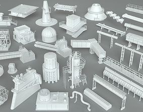 Factory Units-part-1 - 32 pieces 3D