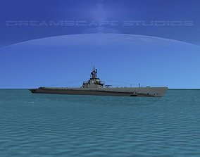 3D model Gato Class Submarine SS220 USS Barb