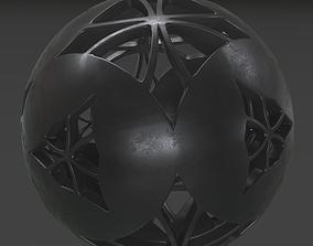 Sphere Black Clay clay 3D model