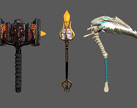 Ancient Weapons 3D asset