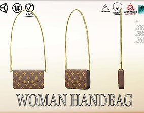 3D model VR / AR ready Woman Handbag Louis Vuitton