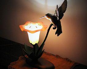 Hummingbird Lamp 3D printable model