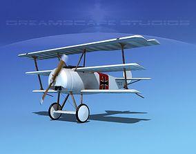 Fokker DR-1 Triplane V13 3D model