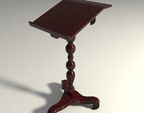 Wooden bookstand 3D
