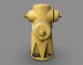 3D model Yellow Fire Hydrant 2