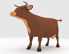 Cow LOW POLY 3D asset