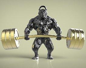 pendant Bear 3D print model