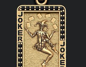 3D printable model Joker playing card pendant