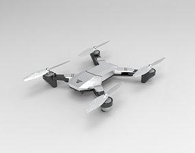 Silver Drone 3D model