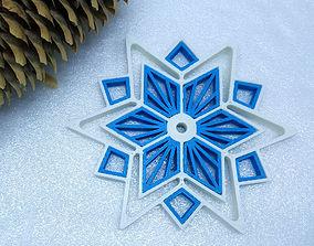 3D printable model snowflake Snowflake star