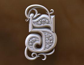 number 5 3D print model