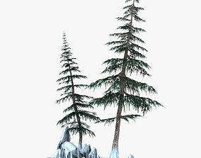 Snow Pine Tree 3D
