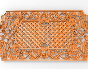 Carved CNC 3D print model decorative grating