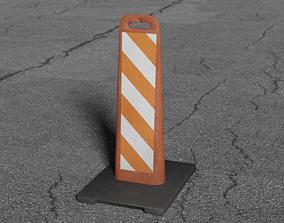 Vertical Panel Safety Sign 3D