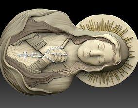 3D printable model virgin mary praying