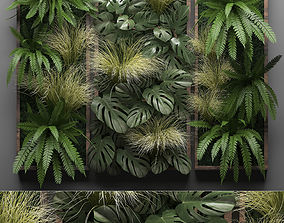 3D model Vertical gardening Fern Wall