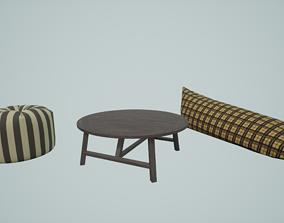 Basic Outdoor Lounge set 3D model