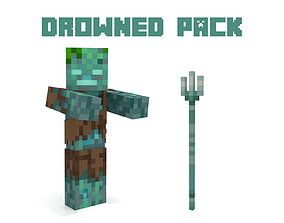 Minecraft Drowned PACK 3D