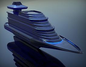 3D model Futuristic Ship