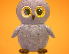 Owl with Huge Eyes 3D model