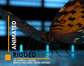 Butterfly 3D asset animated