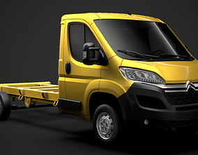 3D model Citroen Relay Chassis Truck Single Cab 4035WB