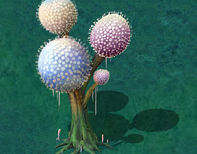 3D model Cartoon version - pompon Spores 02