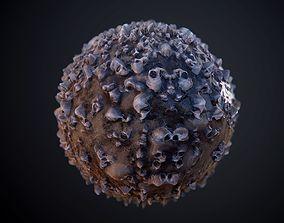 3D Skulls Seamless PBR Texture