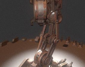 3D asset The Walking Mech Neck Rusty Version