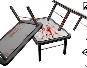3D model Post-Apocalyptic Bloody Table