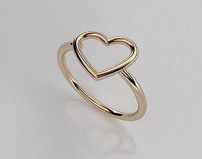 heart ring 3D printable model rings