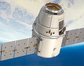 3D model ISS Module Dragon