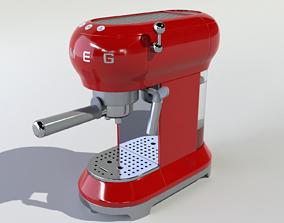Espresso Machine Smeg 3D asset low-poly
