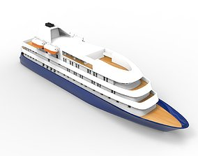 Island Sky Cruise Ship 3D print model