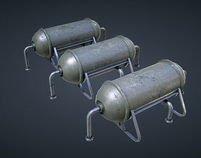 3D model Mars KitBash - Fuel Containers