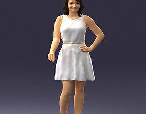 3D printable model Girl in white dress 0478