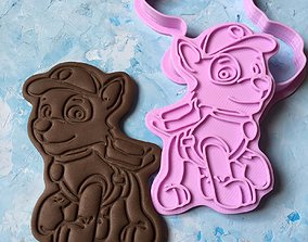 Paw Patrol Cookie Cutter Details Rocky 3D print model