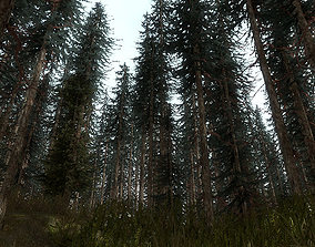 low-poly 15 Pine Tree Models For Games