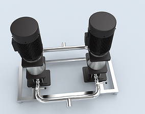 High Pressure Feed Filter Pump 3D asset