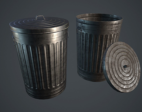 Trash Can PBR Game Ready 3D asset